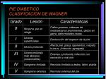 pie diabetico clasificacion de wagner