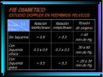 pie diabetico estudio doppler en miembros pelvicos