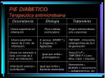 pie diabetico terape tica antimicrobiana
