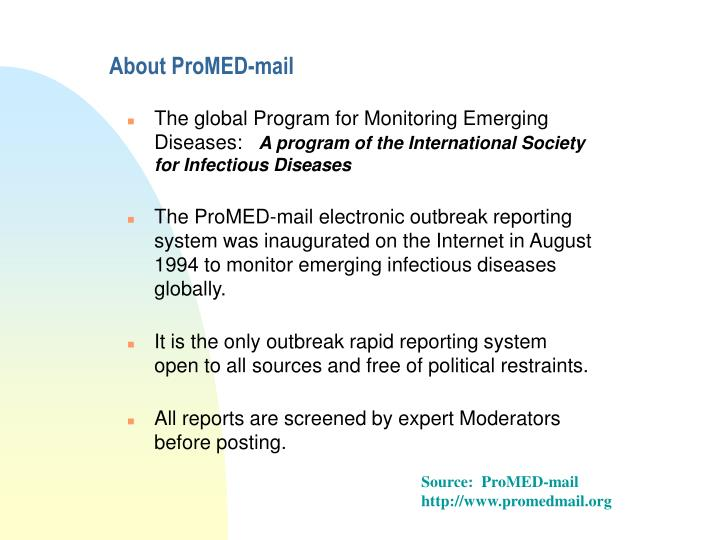 About promed mail