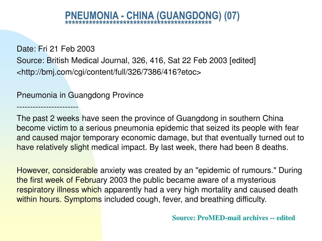PNEUMONIA - CHINA (GUANGDONG) (07)