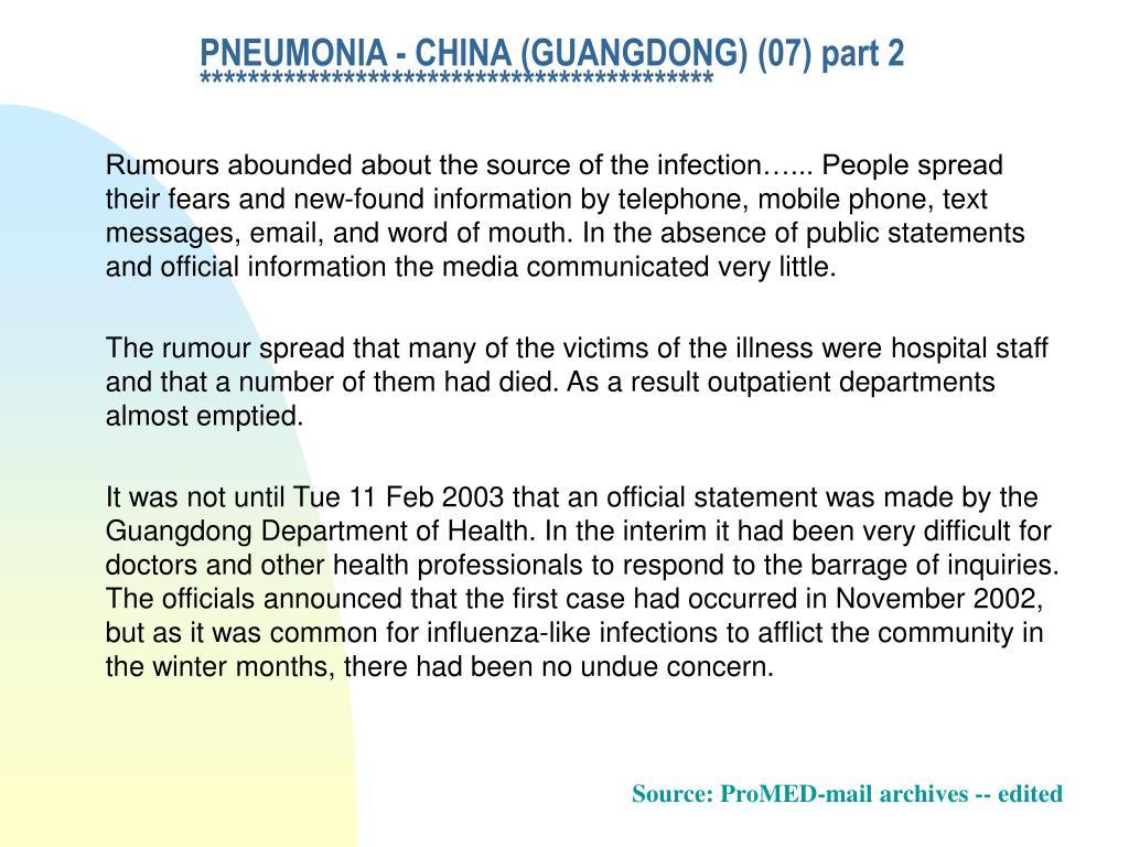 PNEUMONIA - CHINA (GUANGDONG) (07) part 2