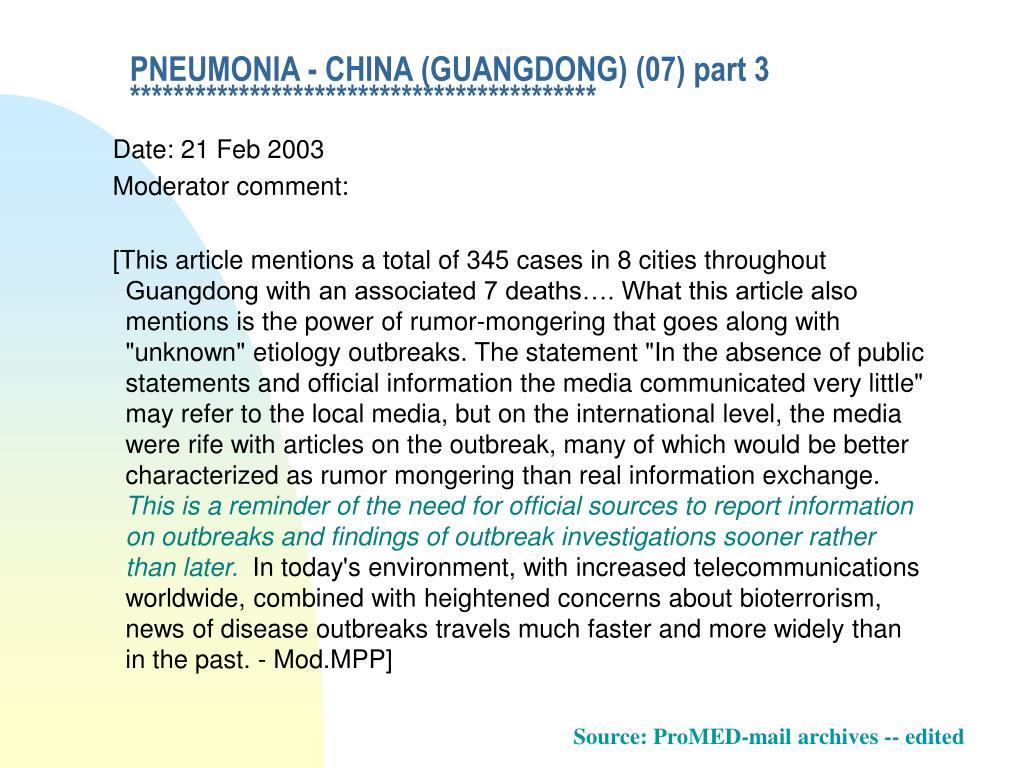 PNEUMONIA - CHINA (GUANGDONG) (07) part 3