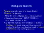 rich poor divisions
