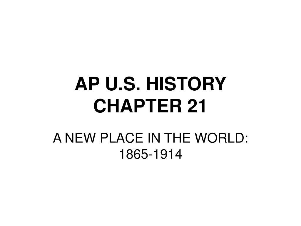 ap u s history chapter 21 l.