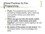 good practices for pair programming2