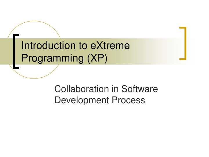introduction to extreme programming xp n.