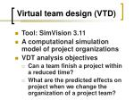virtual team design vtd1