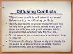diffusing conflicts1
