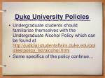 duke university policies1