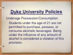 duke university policies3