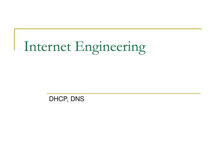 internet engineering n.