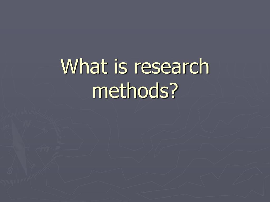 what is research methods l.