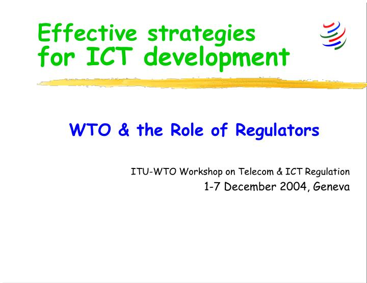 effective strategies for ict development n.