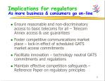 implications for regulators as more business consumers go on line