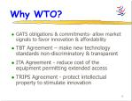 why wto