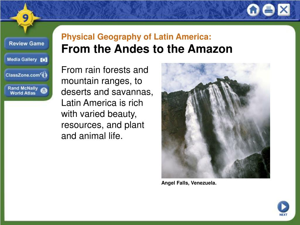 Physical Geography of Latin America: