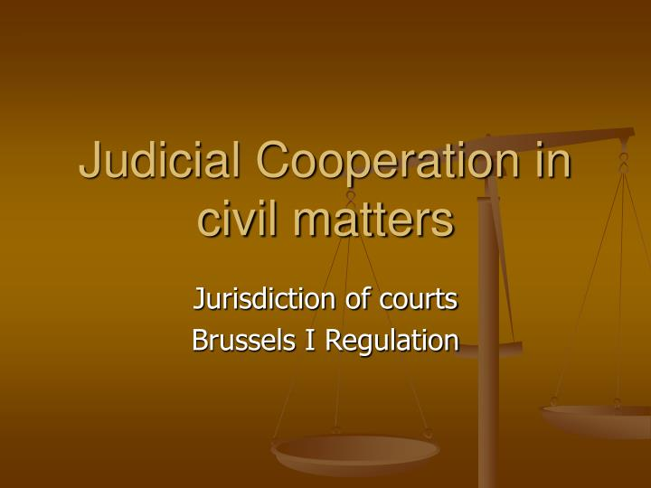 judicial cooperation in civil matters n.