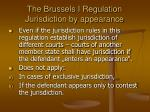 the brussels i regulation jurisdiction by appearance
