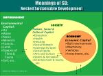 meanings of sd nested sustainable development