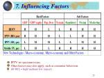 7 influencing factors