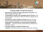 cutting edge invited symposia