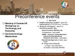 preconference events