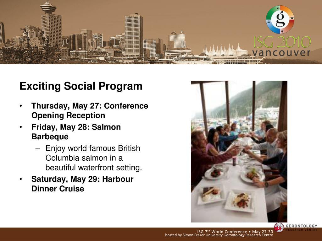 Exciting Social Program