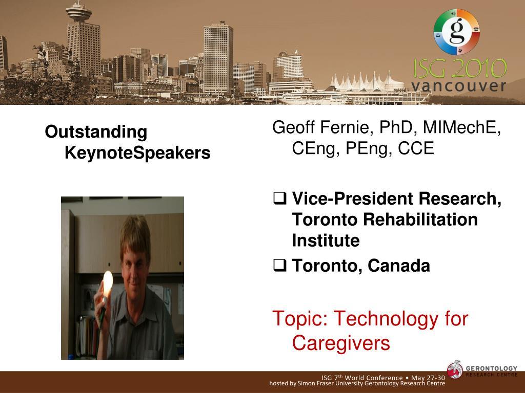 Outstanding KeynoteSpeakers