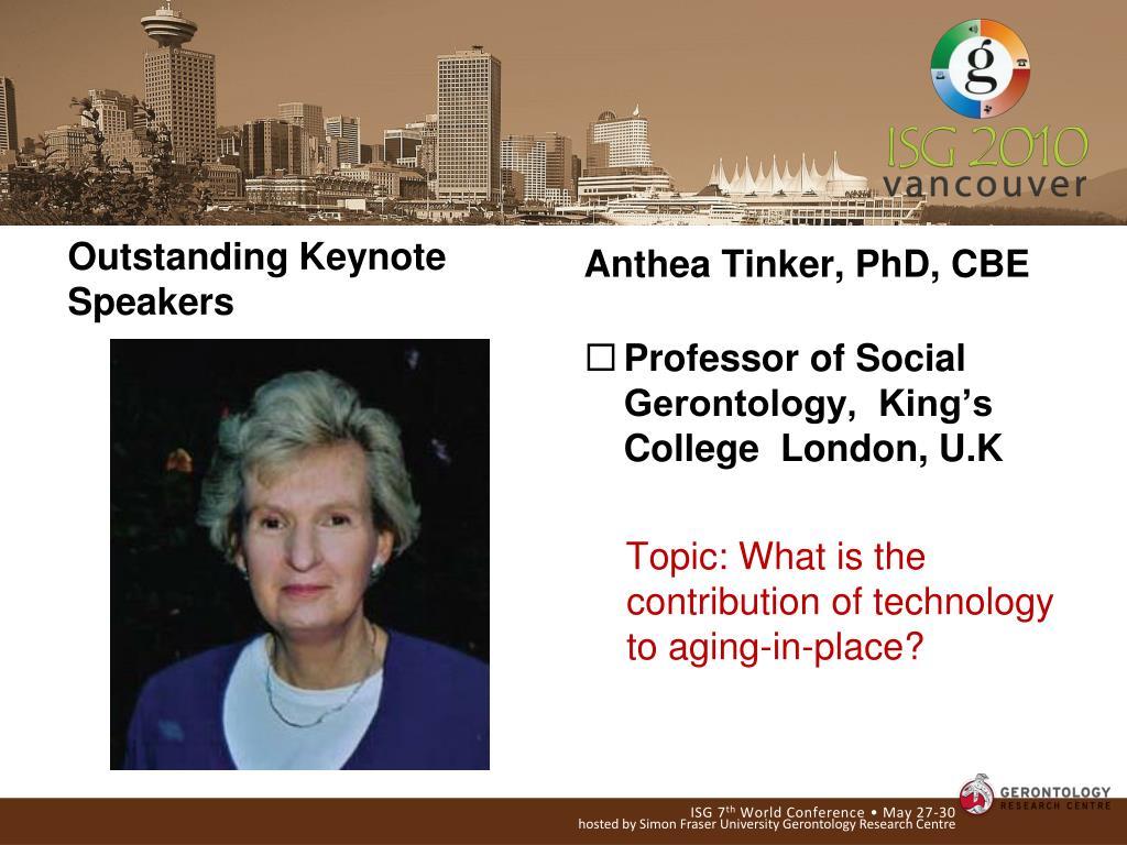 Outstanding Keynote Speakers