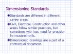 dimensioning standards