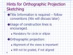 hints for orthographic projection sketching1