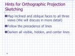 hints for orthographic projection sketching2