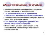 different timber harvest fee structures34