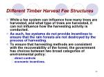 different timber harvest fee structures35