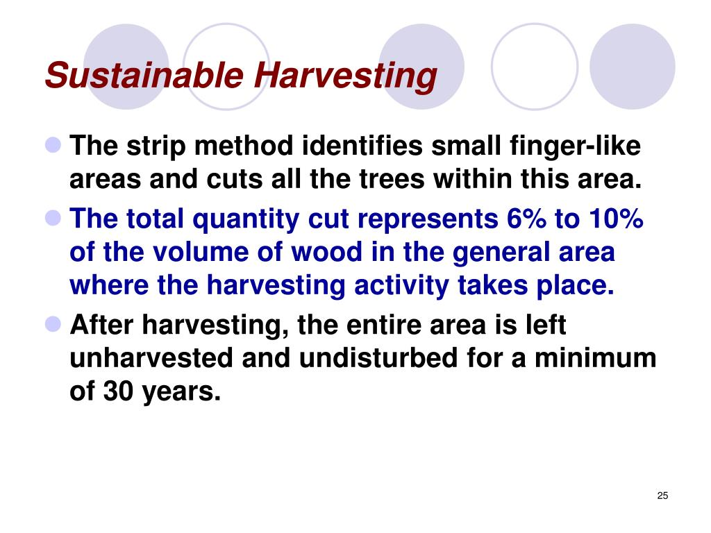 Sustainable Harvesting