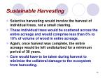 sustainable harvesting26