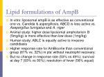 lipid formulations of ampb