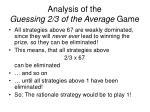 analysis of the guessing 2 3 of the average game