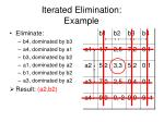 iterated elimination example
