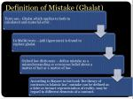 definition of mistake ghalat