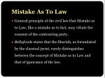 mistake as to law1
