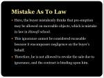 mistake as to law5