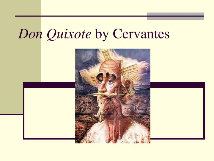 don quixote by cervantes n.
