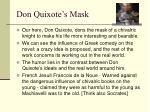 don quixote s mask
