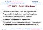 iec 6 1131 part 2 hardware