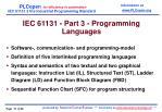 iec 6 1131 part 3 programming languages