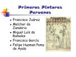 primeros pintores peruanos