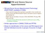pm and ozone source apportionment