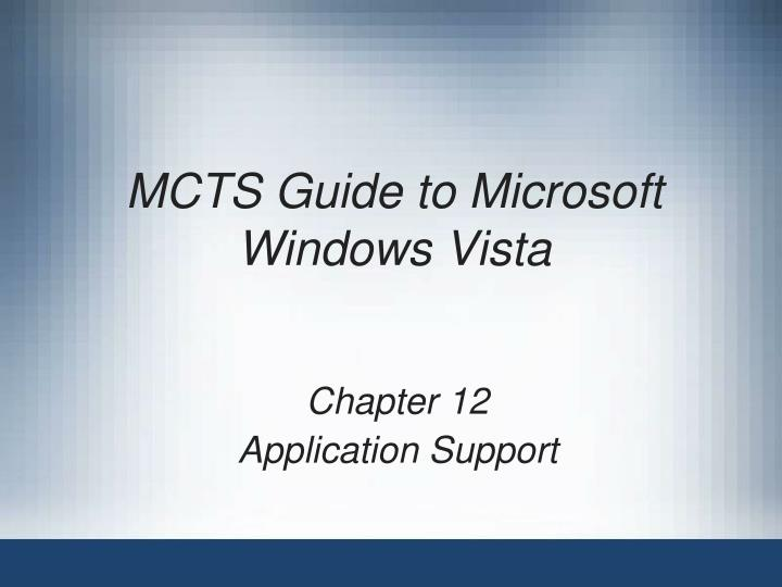mcts guide to microsoft windows vista n.